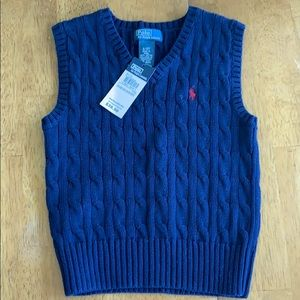 Polo by Ralph Lauren sweater vest in size 3T NWT